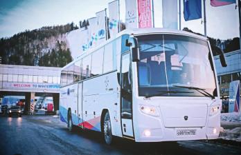 Из аэропорта в Красноярск и обратно на бесплатном автобусе...
